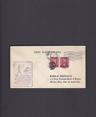 Canal Zone First Flight Cover, 1929, Cristobal to Buenos Aires, Argentina