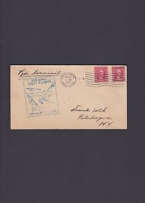 Canal Zone First Flight Cover, 1929, Cristobal to Patchogue via Miami