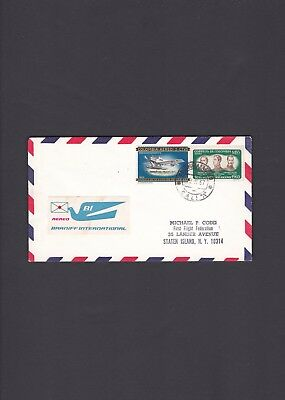 Colombia First Flight Cover 1967 Cali to Miami Braniff Air F34-61 Scarce