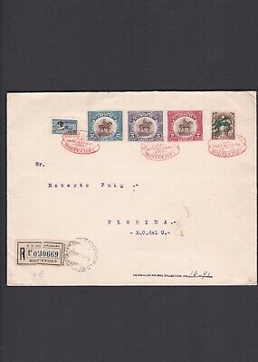Uruguay First Flight Cover 1925 Montevideo, sc. c3, 264-266 set, Large Cover