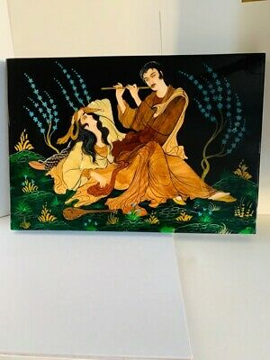 Persian Art work  painting  on wood