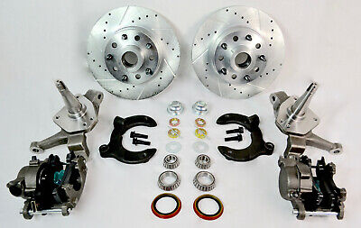 """Mustang II Front Disc Brake Crossed Drilled /& Slotted Rotors 11/"""" 5x5 5x5.5 pro"""
