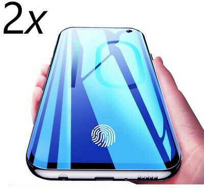 2x Schutzglas Panzer Glasfolie Full Screen 9H Samsung Galaxy S10 / Lite / Plus