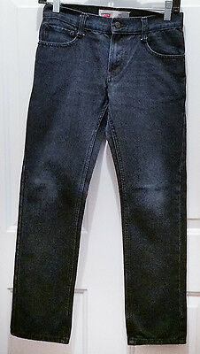 Levis 511 Black Label Boys Slim Fit Sz 12 (26x26) Dark Wash Blue Denim Jeans J54