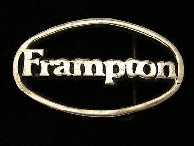 QK03148 VINTAGE 1980s **FRAMPTON** MUSIC COMMEMORATIVE SOLID BRASS BARON BUCKLE