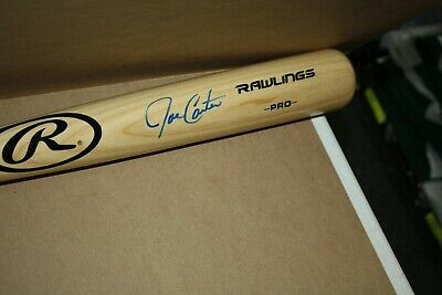 ec9550492c9 TORONTO BLUE JAYS JOE CARTER AUTOGRAPHED Signed Rawlings BIG STICK Bat ASH  JSA
