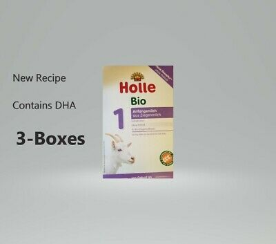 3- BOXES-Holle Organic Goat Milk Formula Stage 1  FREE SHIPPING EXP 9     /2020