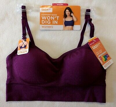 e49abf88dafb7 WARNERS WOMEN S EASY Does It Wire-Free Bra - RN0212A NAVY Size SMALL ...