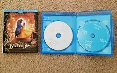 Beauty and the Beast  Disney (Blu-ray/DVD, 2-Disc Set) With Slipcover