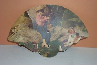 Vintage Folding Advertising Cardboard Hand Fan ~l.f.clark Store Lancaster Pa Collectibles