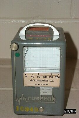 Rustrak DC Microamperes Chart Recorder Model A w/Installed Chart