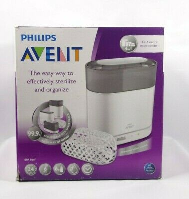 Philips AVENT 4-in-1 Electric Steam Sterilizer bottles sealed baby bpa free new