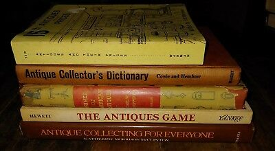 Lot Of 5 Vtg Books The Antiques Games Antiques And Their Prices hc pb