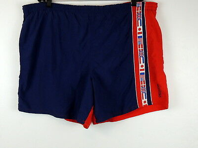 6e6a33e559 SPEEDO Mens XL SwimSuit Trunks World Flags VINTAGE USA Patriotic 4th Of July