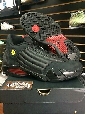 the best attitude 92d06 2e701 AIR JORDAN RETRO 14 Indiglo size 9 Last Shot Ferrari Ginger ...