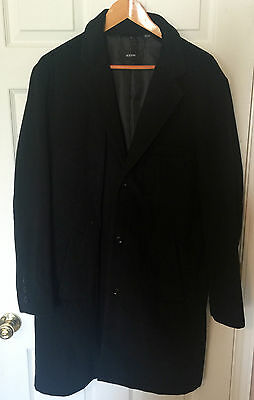 New Without Tag Alfani L black Wool Coat 70%Wool