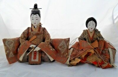 Antique Hina Ningyo Japanese Doll  Emperor and Empress