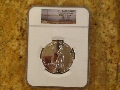 2013 5oz America The Beautiful ATB Peace Memorial Early Releases MS 69 DPL