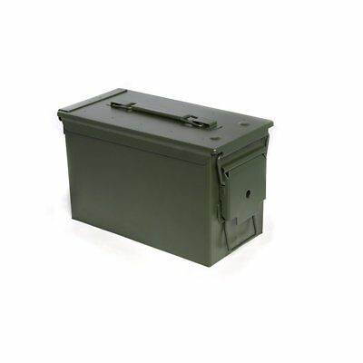 Stout Stuff Metal Ammo Box Green Color Model Storage for Ammunition NEW
