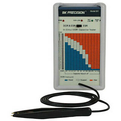 BK Precision 881 In-Circuit ESR and DC Resistance Capacitor Tester