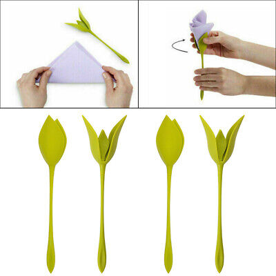 12PCS Bloom Napkin Holders - Flowers Floral Green Design for Table Decoration EU