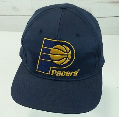 4cf48913bd5bc INDIANA PACERS LOGO Mitchell   Ness Sharktooth Vintage 90s Snapback ...