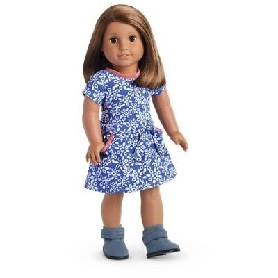 "American Girl ""Print Corduroy Dress & Ankle Boots"" - COMPLETE - NEW"