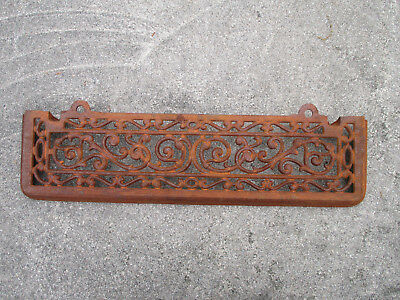Fireplace Grate Architectural Salvage Stove Shelf Cast Metal Vintage Scroll