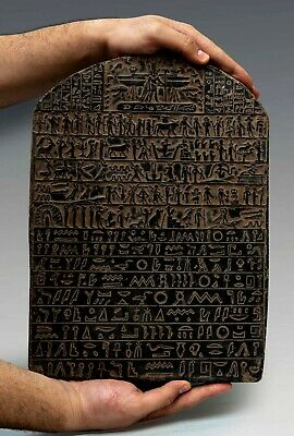 ANCIENT EGYPT ANTIQUITIES Hieroglyphic STELE RELIEF EGYPTIAN Sculpture STONE, BC