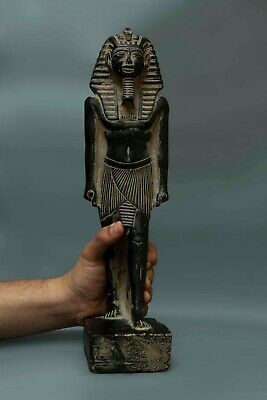 ANCIENT EGYPTIAN ART ANTIQUE King TUTANKHAMUN EGYPT STATUE Black Stone 1334,BC