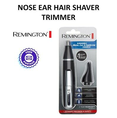 REMINGTON Nose Ear Hair Shaver Trimmer Cordless Portable Mens Grooming Washable