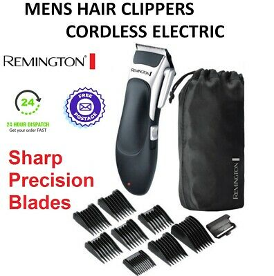 Remington Hair Clippers Electric Mens Cordless Precision Haircut Kit Trimmer Set