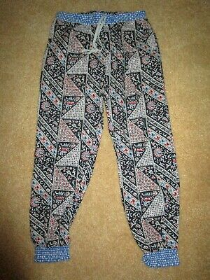 Girls  Seed woven cotton Harem Pants    Size 6-7