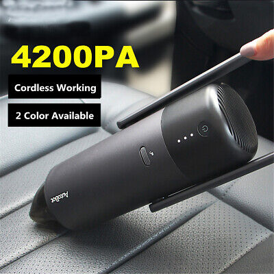 4200PA Handheld Cordless Portable Car Vacuum Cleaner Super Suction Dust Tool