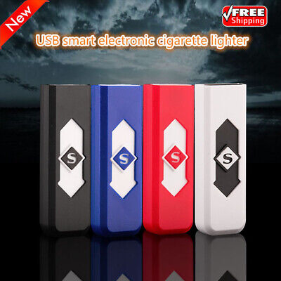 Windproof USB Rechargeable Electric Lighters Smokeless Flameless Multi-Function