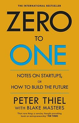 Zero to One by Blake Masters NEW Paperback