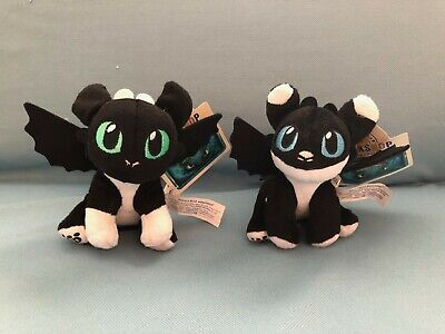 2 SOLD OUT Night Light Fury Dragon Babies from Build A Bear Nightlights
