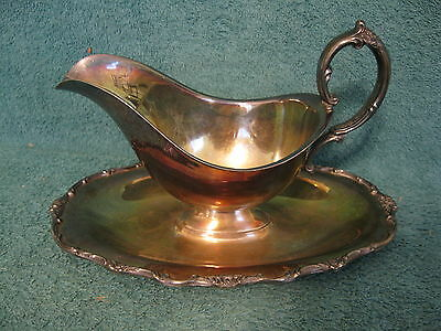 Wellington Wm. Rogers Silver Plated Gravy Boat (item# S802)