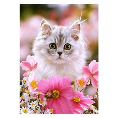 Lovely Cat 5D DIY Full Drill Diamond Painting Cross Stitch Embroidery Kits Decor