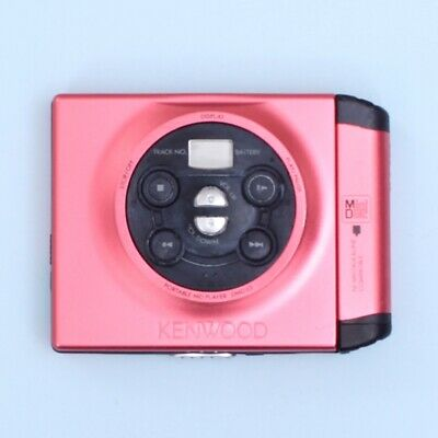 KENWOOD DMC-J3 Portable Mini Disc (MiniDisc) Player (Pink) *SOLD AS IS*