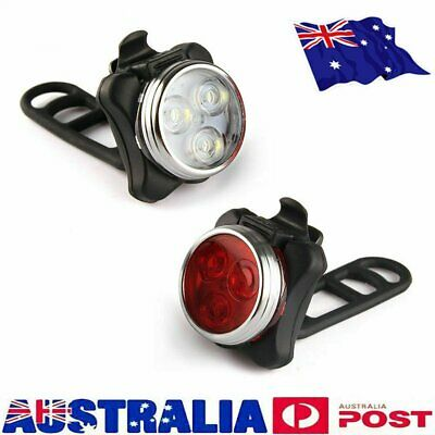 IPX4 Waterproof Bicycle Bike Lights Front Rear Tail Light Lamp Rechargeable S4