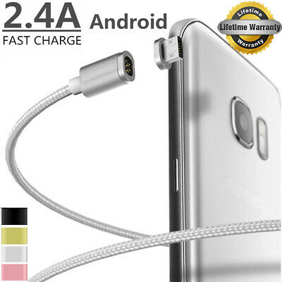 2.4A Micro USB Charging Cable Magnetic Adapter Charger For Samsung HTC Android