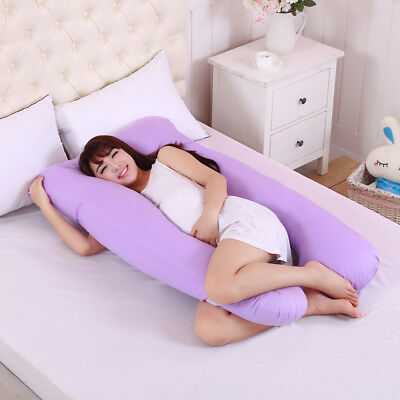 MOISO Full Body Pregnancy Pillow G-Shaped Maternity Pillow Removable for Sleeping with Nursing Baby Design Support for Back Belly Hips Legs