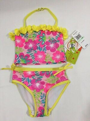 430a4a7862 Penelope Mack Swimsuit Toddler Pink Swim Suit Floral 2 Piece 18 Months NWT