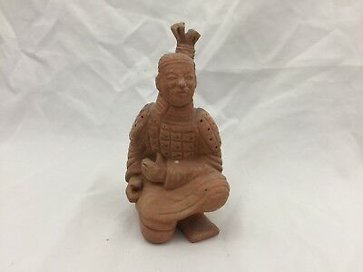 Vintage Chinese Terracotta Soldier Warrior Kneeling Statue Figurine-5.5 In. Tall