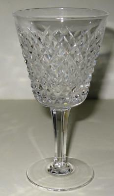 """TWO Waterford Crystal White Wine Goblet Glass Alana 5 1/2"""" Gothic Old Mark"""