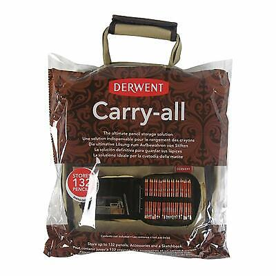 Derwent Carry-All Bag Canvas Pencil Sketchbook Storage Holder Shoulder Strap New
