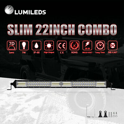 """22Inch LED Light Bar Dual Row Combo Beam Work Driving Offroad 4WD 20'' 23"""""""