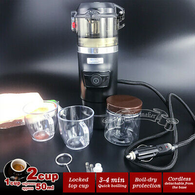 12V Car Espresso Coffee Machine Make Espresso In Car Coffee Maker with 2cups