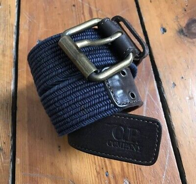 Children CP Company belt kids boy girl leather brown navy blue braided